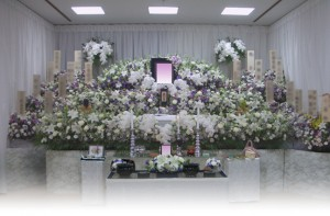 生花祭壇 杉並 葬儀 堀ノ内斎場